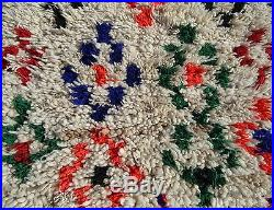 100% Authentic Azilal Moroccan Rug Wool Beni Ourain vintage Carpet 5' x 2'4