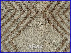 100% Authentic Azilal Moroccan Rug Wool Beni Ourain vintage Carpet 6'4 x 2'9