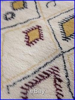 5' X 8' Beni Ourain Moroccan Area Rug Hand Knotted Multi Berber Azilal Elegant