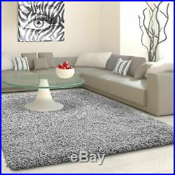 5cm HIGH PILE SMALL EXTRA LARGE PREMIUM QUALITY NON SHED SHAGGY RUG LIGHT GREY