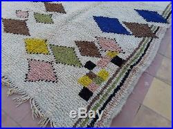 7' x 4' Vintage Moroccan Rug Azilal Colourful Tribal Berber Hand Knotted carpet