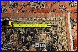 8' x 10' Handmade Hand-knotted Rug made out of Natural Wool RUST COLOR