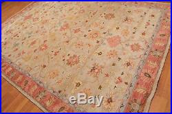Antique Hand Made Traditional Agra Beige Pearsian Oriental Wool Area Rug