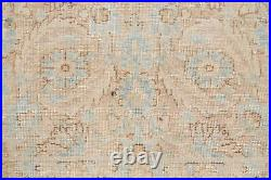 Antique Muted Color All-Over LIGHT PEACH Sarouk Floral Area Rug Hand-made 9x12