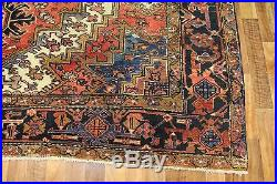 Antique Persian Heriz Carpet With Traditional Design Great Condition 11.6 X 8 Ft