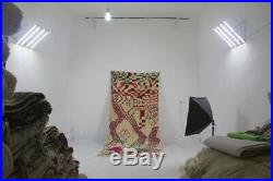 Beautiful 100%Authentic Quality AZILAL Beni Ourain Moroccan Rug Size254cmx130cm
