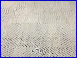 Beni Ourain Moroccan style Area Rug 9' X 13' hand Knotted Soft White Large Rare