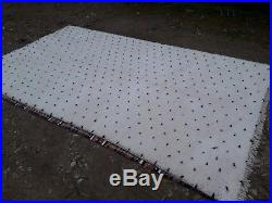 Beni Ourain Rug 9 Ft x 5 Ft 2 Moroccan Rug Handmade Authentic Wool Carpet