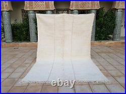 Beni ourain Rug 10'2x6'8 Ft Moroccan Rug Handmade Authentic Wool Carpet