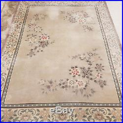 Chinese 12'8 x 8'7 Grey Sculpted Fringed Aubusson Carpet (385x262.