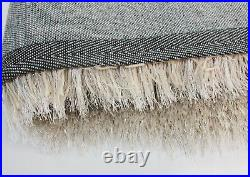 Dazzle Sparkle Natural Champagne Cream Silky Thick Long Pile Glitter Shaggy Rug