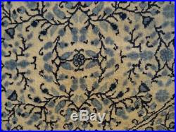 EXCELLENT PERSIAN Naine design CARPET RUG Wool Round HAND MADE 7FT 4 Pale blues