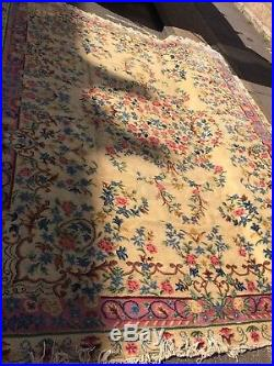 EXTRA LARGE HANDMADE CARPET. 10ft X 13ft THICK PILE. IN VERY GOOD CONDITION