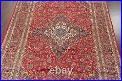 Excellent Vintage Ardakan Oriental Floral Area Rug RED Wool Hand-Knotted 10'x14