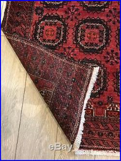 Hand Made Red Balouch Persian Runner, Beautiful Living Room rug (12'x 3') carpet