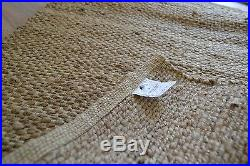 Jute Rug Handmade Flat Knotted Dhurrie Runner Large 200x300cm Natural Eco 2mx3m