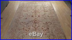 Large PERSIAN CARPET RUG Hand Made Antique WOOL Zeigler 9ft 9 x 6ft 8 Champagne