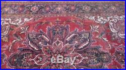 Large PERSIAN CARPET RUG Hand Made Traditional Antique WOOL 9ft 8 x 6ft 10