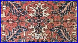 Large PERSIAN CARPET RUG Hand Made Traditional Antique WOOL Heriz 9ft 5 x 6ft 11