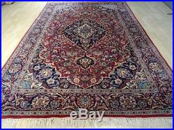 Large PERSIAN design CARPET RUG Hand Made TABRIZ traditional WOOL 10ft 2 x 6ft 9