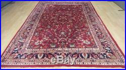 Large PERSIAN style CARPET RUG Hand Made traditional antique WOOL 9ft 8 x 6ft 8