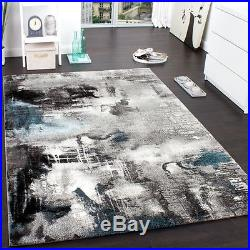 Large Rug Modern Carpets Small Large Size Stylish Living Room Rugs Grey Blue New