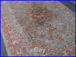 Large persian vintage rug carpet oriental wool hand knotted 6ft x 9ft