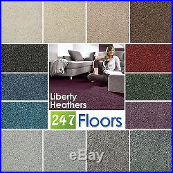 Liberty Heathers Carpet Stain Resistant Twist Quality Feltback ONLY £4.75m²