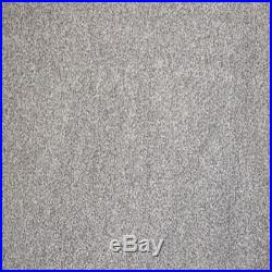 Light Grey/Silver 11-13mm Saxony Carpet 4m x 4m REMNANT FREE DELIVERY