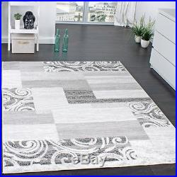 Living Room Carpet Rug Shabby Chic Design Grey Short Pile Small Extra Large Rugs