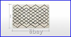 MADE. Com Fes Living Room Off White Tufted Small 100% Wool Rug RRP £399