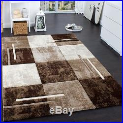 Modern Brown Rug Thick Dark and Light Tones Beige Small Large Living room Carpet