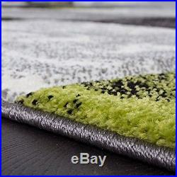 Modern Large Carpet Fashionable Cut Silver Chequered Green Mat New Quality Rug