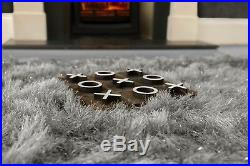 Modern Large Extra Thick 9cm High Pile SHAGGY Floor RUG with SPARKLE SHIMMER