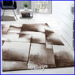Modern Rug Carpet Brown Abstract Designer Rug Living Room Small Extra Large Rugs