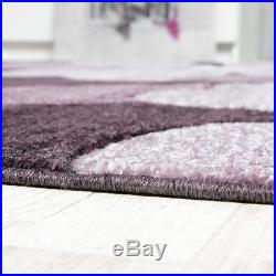 Modern Rug Carpet Colourful Living Room Floral Small Large Purple Pink Soft Rugs