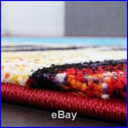 Modern Rug Colourful Carpets Living Area Mats Multi Colours Small XL Large Rugs