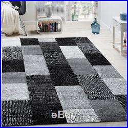 Superior Modern Rug Design New Small Large Mats Checked Soft Quality Rugs Carpets  Grey