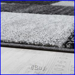 Modern Rug Design New Small Large Mats Checked Soft Quality Rugs Carpets  Grey