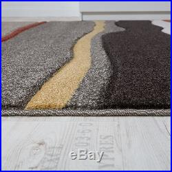 Modern Rug Living Area Carpet Quality Design Rugs Brown Beige Small Large Size