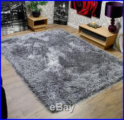 Modern Shaggy Very Thick Deep, and Soft Touch Grey Mix Rug Home Luxurious Carpet