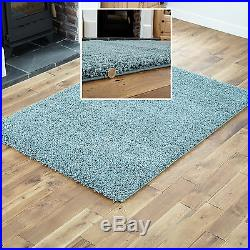 Modern Small Extra X Large Rug Thick 5cm Pile Duck Egg Blue Shaggy Rugs