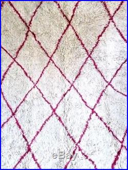 Moroccan Beni Ourain Rug Handmade Wool Carpet Authentic Azilal berber Thick rug