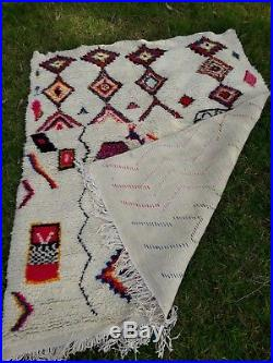Moroccan Berber carpet Vintage Azilal Soft wool rug AUTHENTIC AZILAL CARPET
