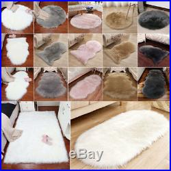 Natural Sheepskin Rug Very Fluffy Soft Wool Shaggy Area Rugs Faux Fur Hairy Mats