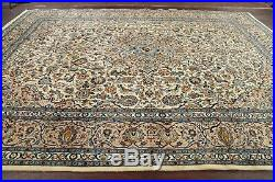 New Floral Ivory Ardakan Area Rug Living Room Hand-Knotted Wool Carpet 10'x13