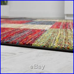 New Modern Rug Colourful Carpets Soft Pile Living Room Small Extra Large  Rugs