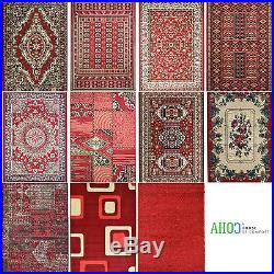 New Small X Large Red Shaggy Modern Traditional Soft Area Rugs Mat Carpet Rug