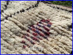 Old Authentic Handmade Moroccan Azilal Rug Wool Berber Carpet 9'8 x 4'9'