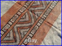 Old Blanket Authentic Moroccan Rug Wool Beni Ourain vintage Carpet 5'1 x 8'9